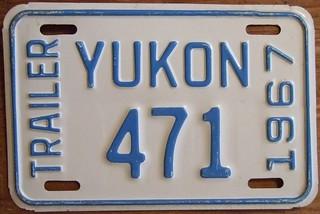 YUKON 1967 ---TRAILER PLATE