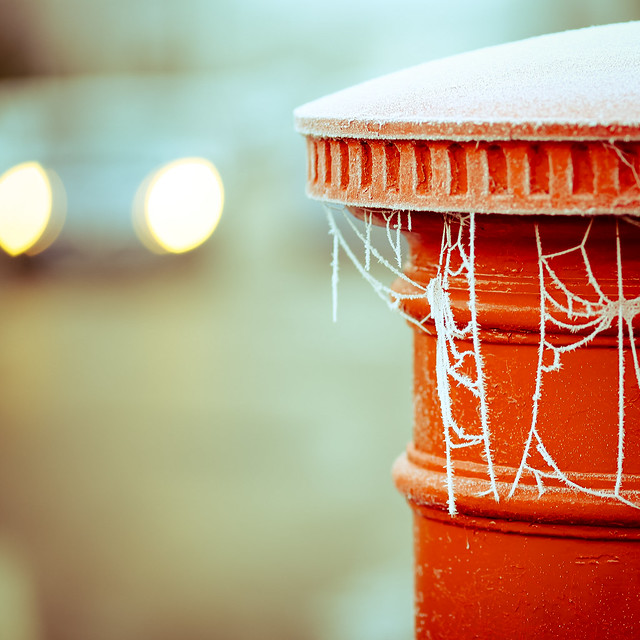 brightly shone the lights that night, though the frost was cruel, when a poor man came in sight gath'ring winter bokeh