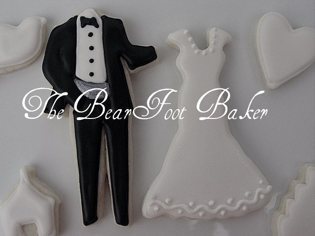Wedding dress and tux cookie cutters wedding dresses asian for Wedding dress cookie cutters
