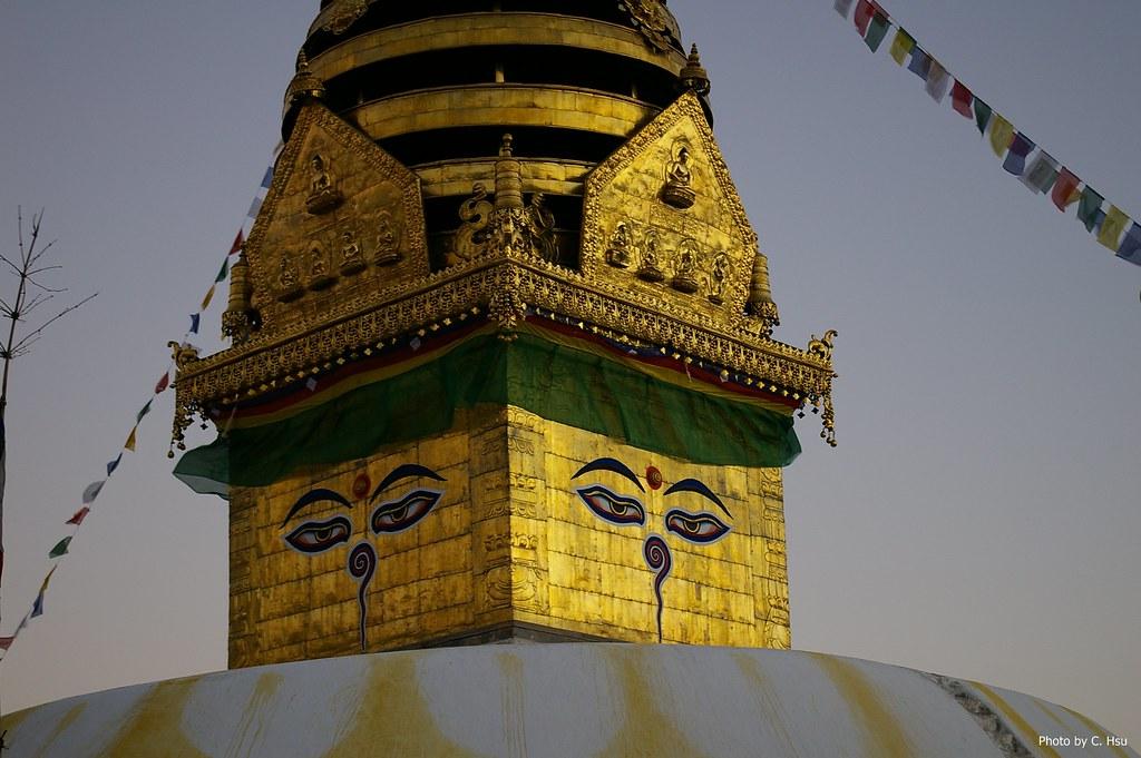 尼泊尔大佛塔夜景