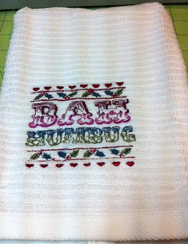 Bah Humbug Christmas towel