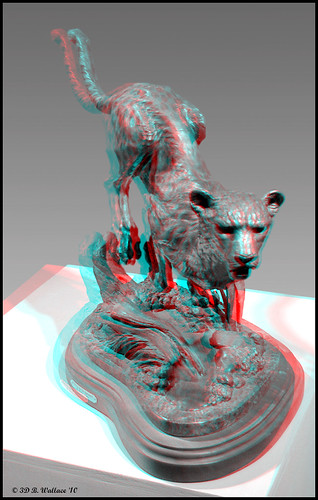 portrait blackandwhite bw sculpture art nature animal statue bronze cat 3d md wildlife brian maryland anaglyph monotone indoors stereo leopard jungle wallace inside grayscale easton ewf brianwallace eastonwildlifefestival