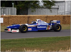 Damon Hill 1996 Williams Renault FW18 F1.  2009 Goodwood Festival of Speed