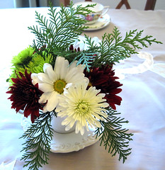 winter bouquet in a cup