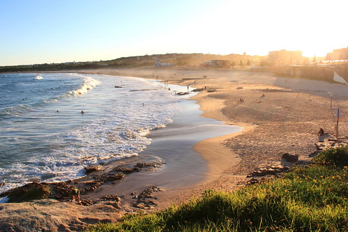 Sunset at Maroubra beach