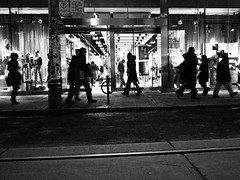 Night shopping on Queen St.