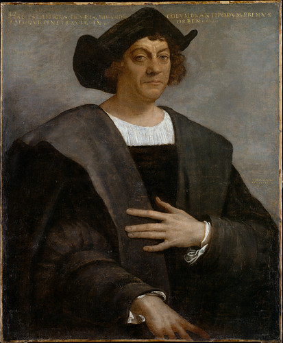 Portrait of a Man, Said to be Christopher Columbus (born about 1446, died 1506) Sebastiano del Piombo (Sebastiano Luciani) (Italian, Venetian, ca. 1485–1547) 1519 . MET, NYC by renzodionigi