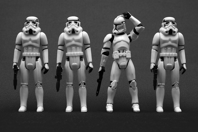 12.26.10 BW (one of these troopers is not like the others)