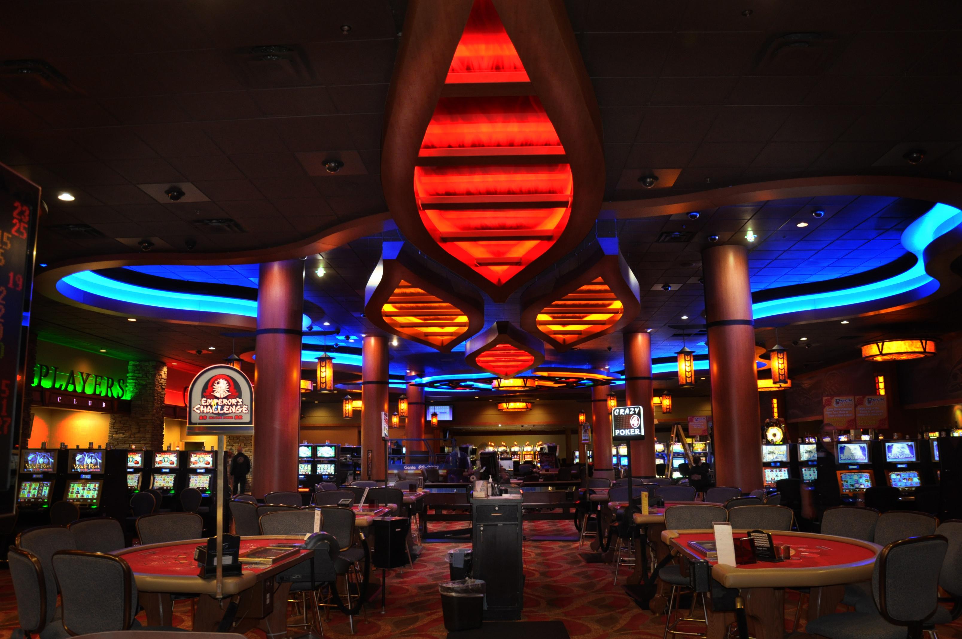 Casino room decorate