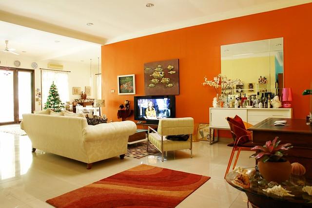 my orange living room flickr photo