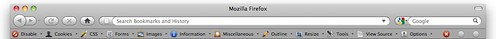 Nieuwe Web Developer toolbar in Firefox by BasBoerman