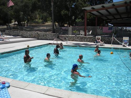 Nude water volleyball by Deer Park Resort