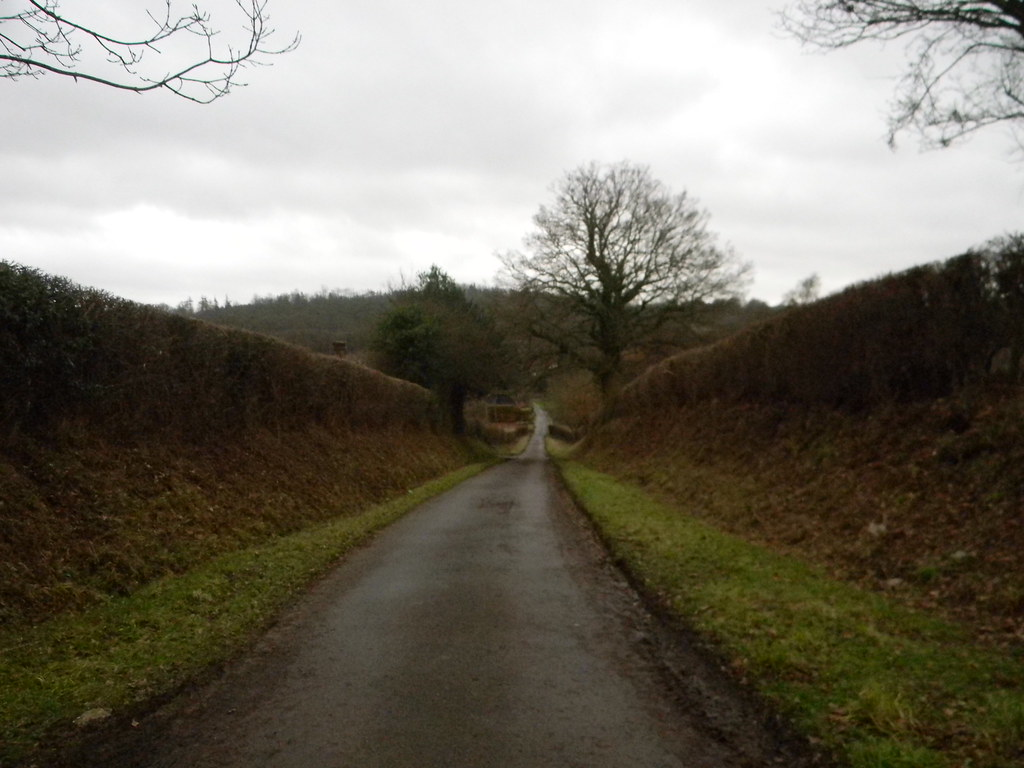 View down lane Approaching Salmans Manor. Penshurst Circular