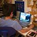 Small photo of Eamon playing Starcraft II