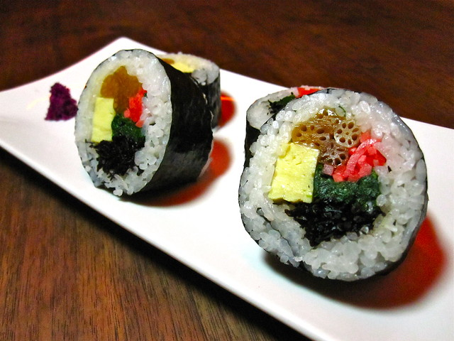 Futo Maki by Momo Sushi Shack. Photo by Rebecca Bullene.