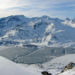 Over Lac du Mont Cenis from the top of the Met run