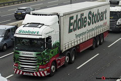 Scania R440 6x2 Tractor with 3 Axle Refrigerated Curtainside Trailer - PL10 KVG - Debbie Marjorie - Eddie Stobart - M1 J10 Luton - Steven Gray - IMG_4774