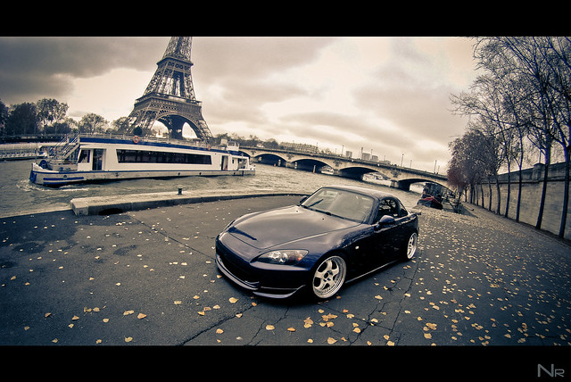FRENCH HONDA S2000 Blue Navy / Of Koni Paris / WORK MEISTER S1 3P