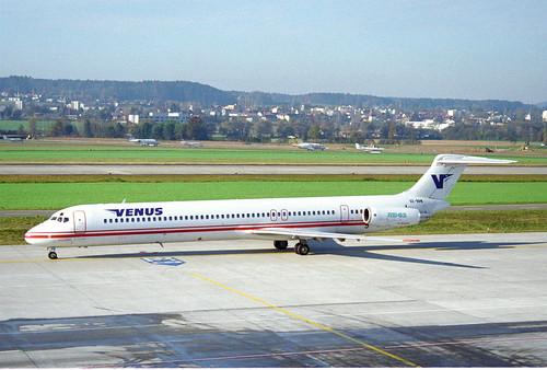 Venus Airlines MD-83; SX-BBW@ZRH;12.11.1995