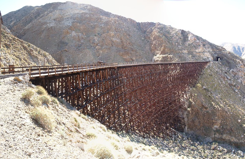 View of the trestle from the outside of Goat Canyon