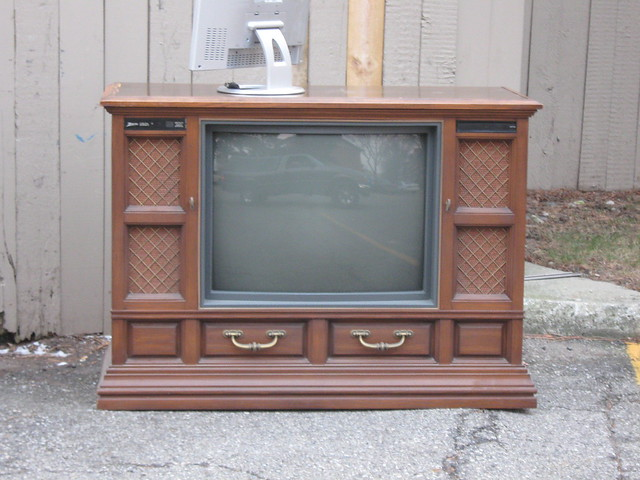 Old zenith console tv flickr photo sharing