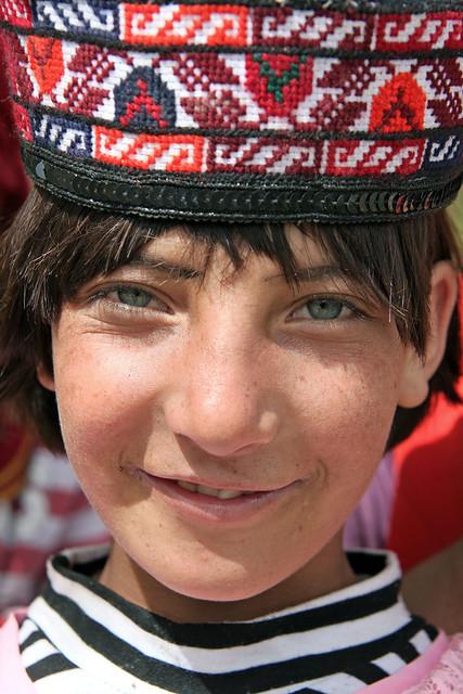タシュクルガン、青緑の瞳をしたタジク族少女