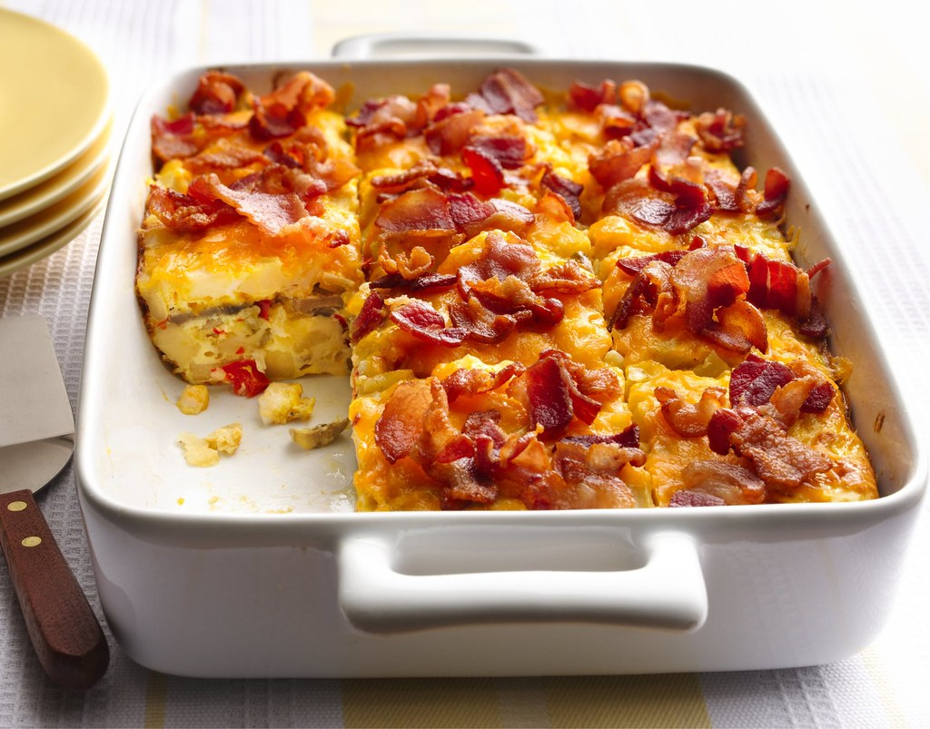 Bacon and Hash Brown Egg Bake Recipe