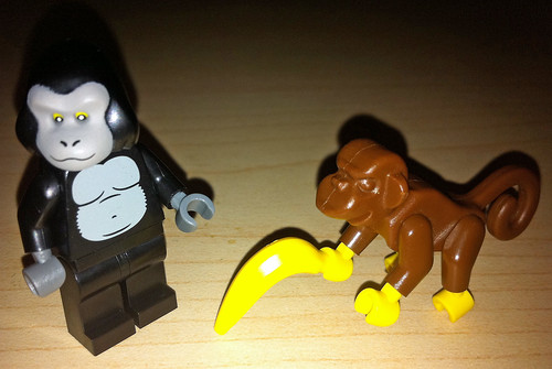 LEGO Collectible Minifigures Series 3 Gorilla Suit Guy vs. Monkey