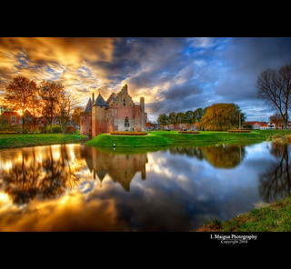 Castle Radboud sunset