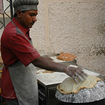 Cooking the Roti - Mumbai, India
