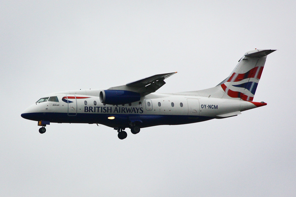 British Airways (Sun-Air of Scandinavia) - OY-NCM - Fairchild Dornier 328-310 328JET