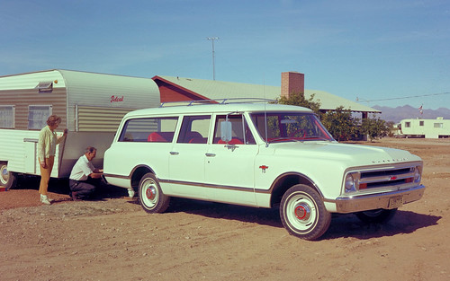1967 Chevrolet Suburban with Ideal Travel Trailer