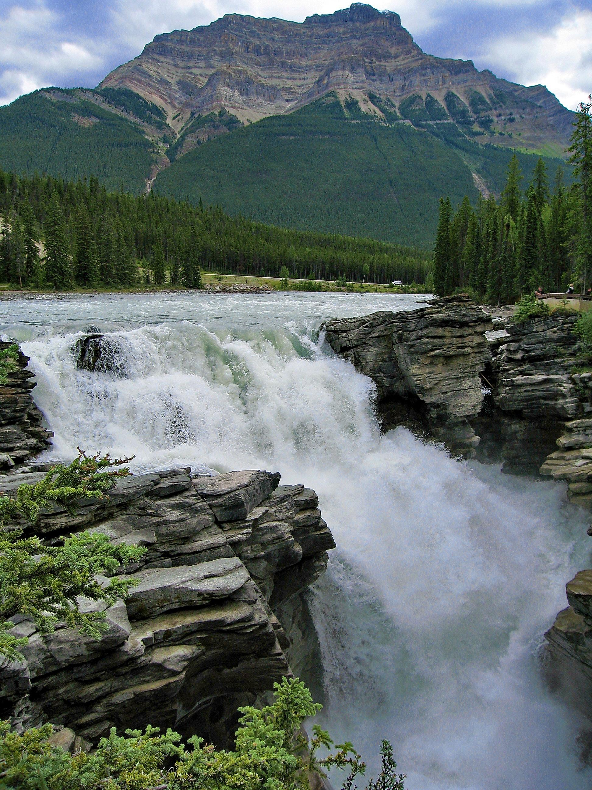 Athabasca Falls,  Jasper National Park, Canada.