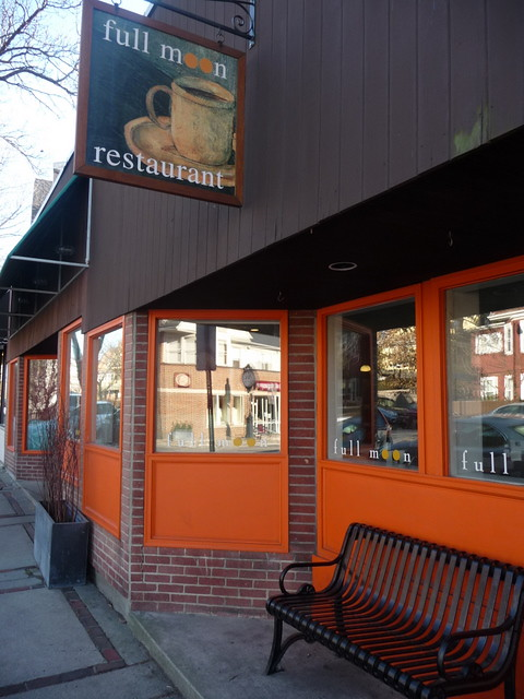 Huron Village - Orange + Black: Full Moon Restaurant, Cambridge, MA.