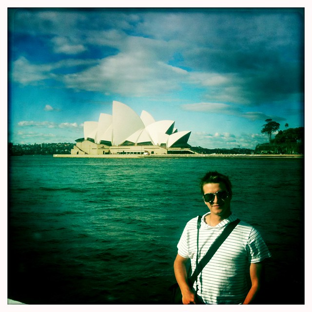 Me in front of Sydney Harbour