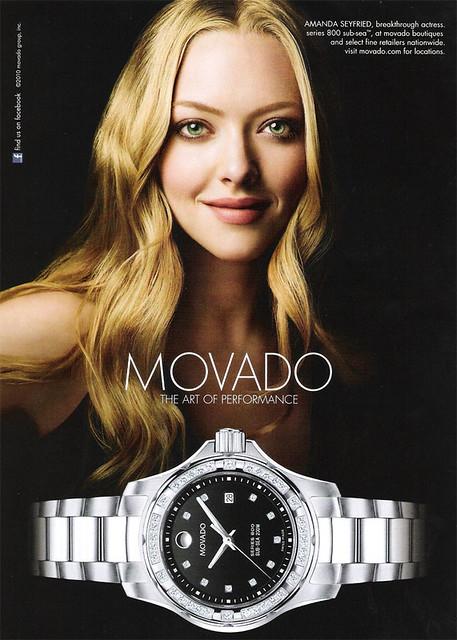 Amanda Seyfried Movado 2010