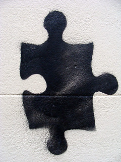 Jigsaw graffiti