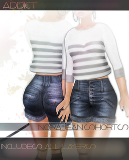 -[AddiCt]-NORA.Jean Shorts