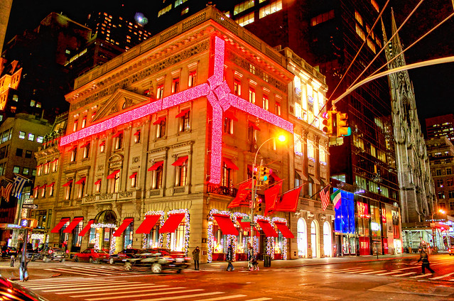 Christmas On 5th Avenue New York Night
