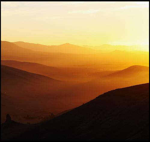 sky sun sunlight view desert syria layers tones palmyra
