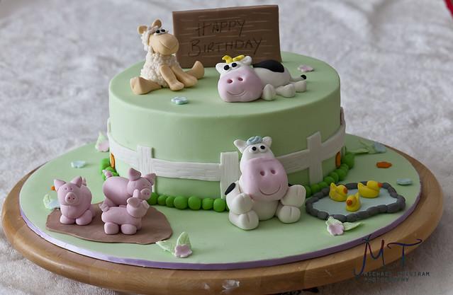 Farmyard Animal Cake Decorations