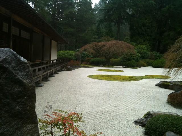 Pavilion and Flat Garden Portland Japanese Garden