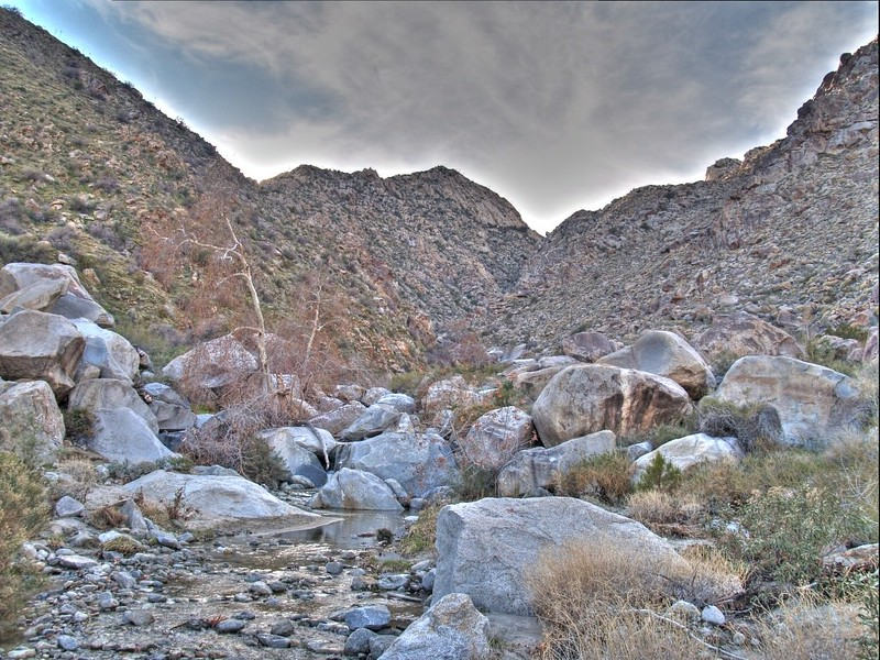 HDR photo, looking up-canyon