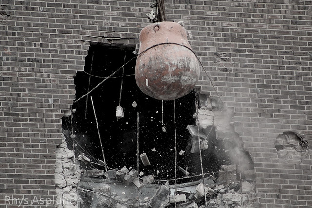 Philadelphia Spectrum demolition: Smashing! from Flickr via Wylio