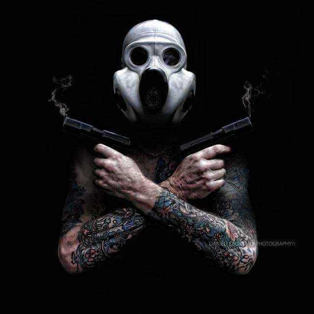 Skull Wearing Gas Mask