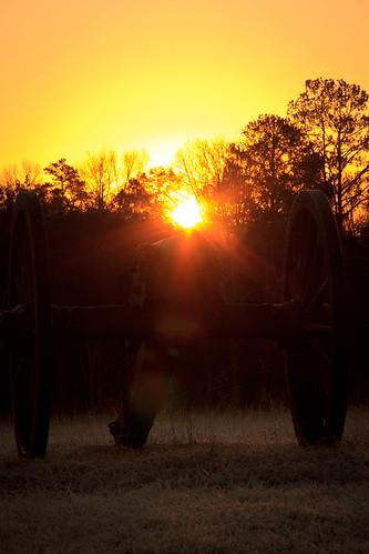 park sunrise cannon battlefield starburst chickamauga