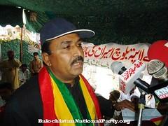 Rauf Mengal giving a speech in Khuzdar