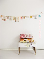 garlands & cushions...