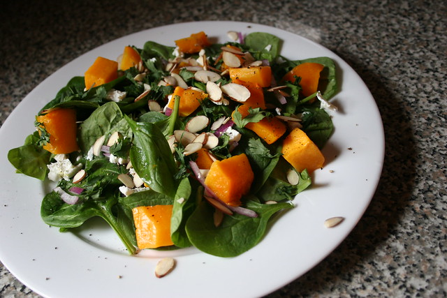 butternut squash salad with cilantro