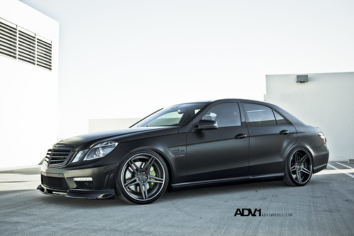 Matte Black Mercedes E63 on ADV05